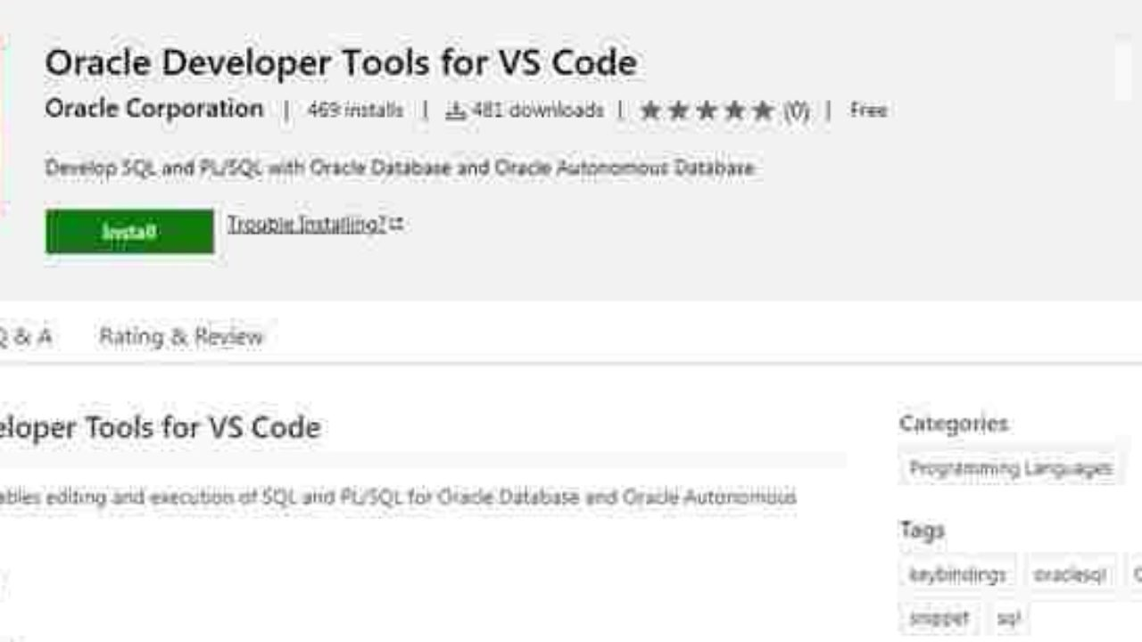 Oracle released a Microsoft VS Code developer tool to easily connect