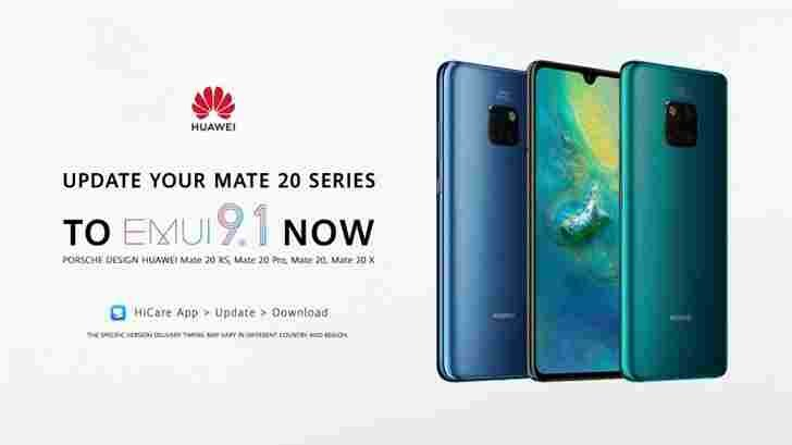 Huawei Mate 20 Series Receives EMUI 9 1 Update: Super File System +